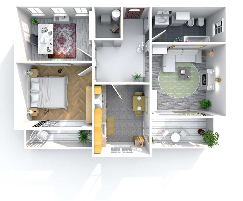 Austin Home Inspection House Cross Section